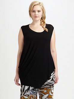 Fuzzi, Salon Z - Sleeveless Asymmetrical Top