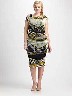 Fuzzi, Salon Z - Printed Ruched Dress