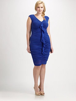 Fuzzi, Salon Z - Gathered-Front Dress