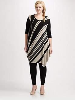 Fuzzi, Salon Z - Diagonal-Stripe Knit Dress