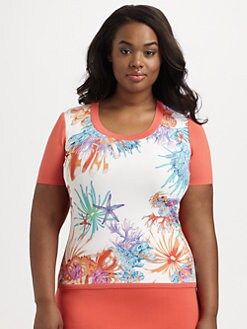 Stizzoli, Salon Z - Knit/Jersey Printed Shell
