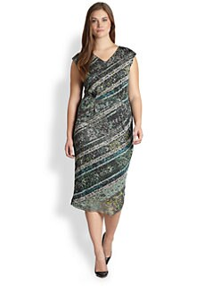 Fuzzi, Salon Z - Bisanzio Cap-Sleeve Dress