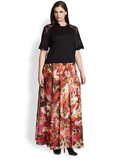 Fuzzi, Salon Z - Floral-Print Maxi Skirt/Dress