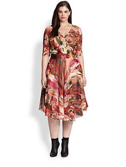 Fuzzi, Salon Z - Floral-Print Wrap Dress