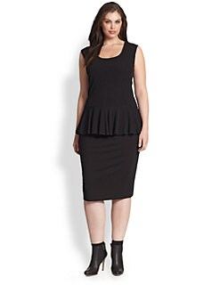 Fuzzi, Salon Z - Sleeveless Peplum Top