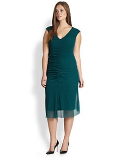 Fuzzi, Salon Z - Sleeveless Ruched-Front Dress