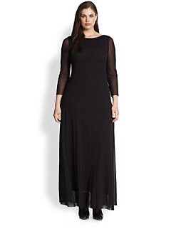Fuzzi, Salon Z - Mesh Maxi Dress