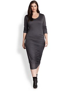 Fuzzi, Salon Z - Side-Ruched Scoopneck Dress