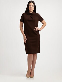 Stizzoli, Salon Z - Short-Sleeve Wool Dress