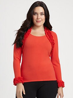 Stizzoli, Salon Z - Ruffle-Detail Knit Top