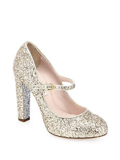 Miu Miu - Glitter Mary Jane Pumps