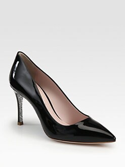 Miu Miu - Patent Leather Glitter Sole Pumps