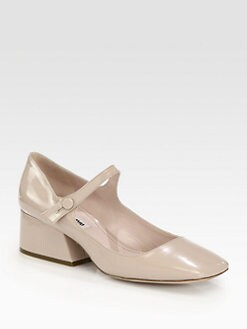 Miu Miu - Patent Leather Mary Jane Pumps