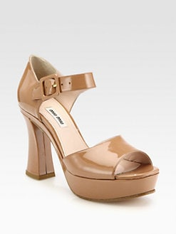 Miu Miu - Patent Leather Platform Sandals