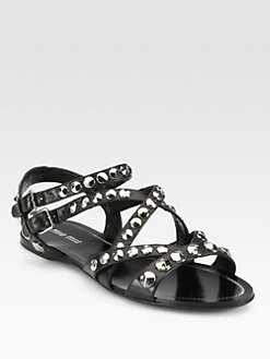 Miu Miu - Studded Leather Sandals