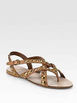 Miu Miu - Studded Leather Gladiator Sandals