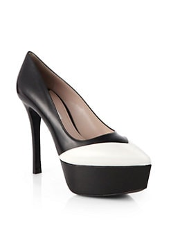 Miu Miu - Leather Platform Pumps