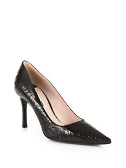 Miu Miu - Crackle Leather Pumps