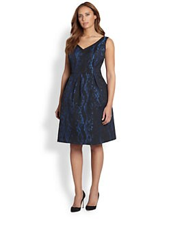 ABS, Sizes 14-24 - Python Jacquard Dress