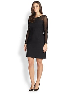 Kay Unger, Sizes 14-24 - Textured-Mesh Dress