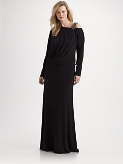 David Meister, Salon Z - Embellished Jersey Gown