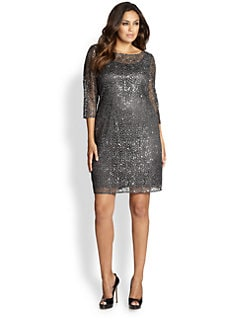 Kay Unger, Sizes 14-24 - Embellished Cocktail Dress