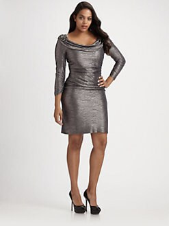 David Meister, Salon Z - Cowlneck Dress
