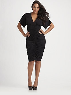 David Meister, Salon Z - Ruched Jersey Dress