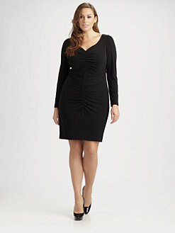 Kay Unger, Salon Z - Ruched Front Dress