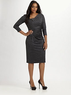 David Meister, Salon Z - Side-Ruched Knit Jersey Dress