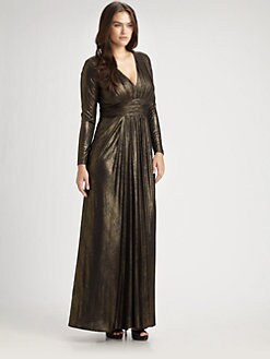 David Meister, Salon Z - Empire Waist Floor-Length Gown