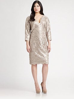 Tadashi Shoji, Salon Z - Sequin/Lace Dress