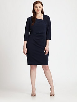 Kay Unger, Salon Z - Asymmetrical-Neckline Dress