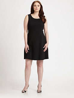 Kay Unger, Salon Z - Sleeveless A-Line Dress