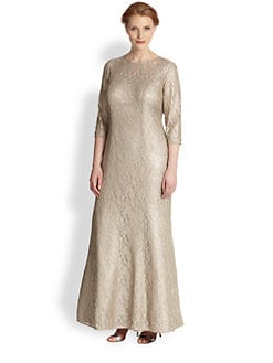 Kay Unger, Sizes 14-24 - Lace Gown