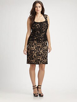 Tadashi Shoji, Salon Z - Lace Overlay Dress