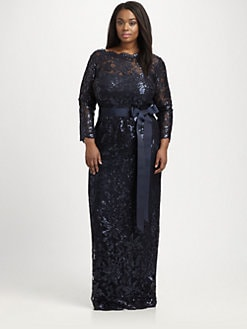 Tadashi Shoji, Salon Z - Sequin/Lace Gown
