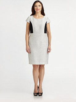Kay Unger, Salon Z - Textured Sheath Dress