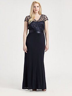 Kay Unger, Salon Z - Lace Bodice Gown