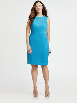 Kay Unger, Salon Z - Cutout-Detail Sheath Dress