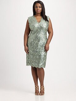Tadashi Shoji, Salon Z - Lace-Overlay Cocktail Dress
