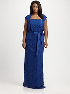 Tadashi Shoji, Salon Z - Lace Blouson Gown