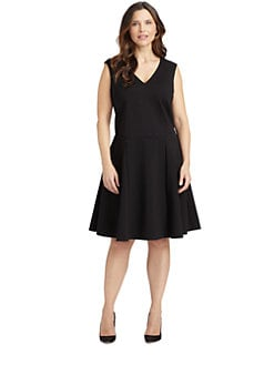 ABS, Salon Z - Sleeveless A-Line Dress