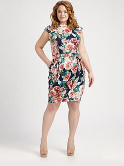 ABS, Salon Z - Bow-Back Dress