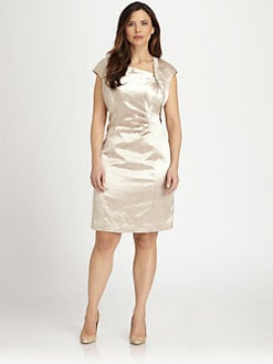 Kay Unger, Salon Z - Textured Satin Dress