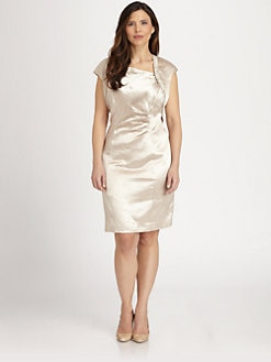 Kay Unger, Sizes 14-24 - Textured Satin Dress