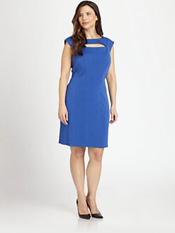 Kay Unger, Salon Z - Cutout Knit Dress