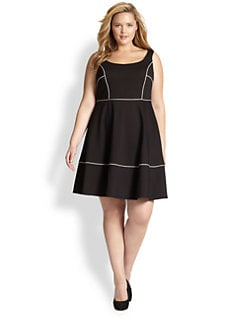 ABS, Sizes 14-24 - Squareneck Dress