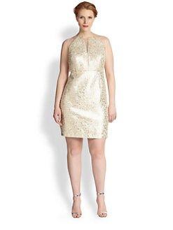 Kay Unger, Sizes 14-24 - Gold Shimmer Dress