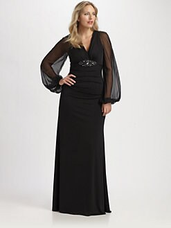 Plus-Size Evening Gown
